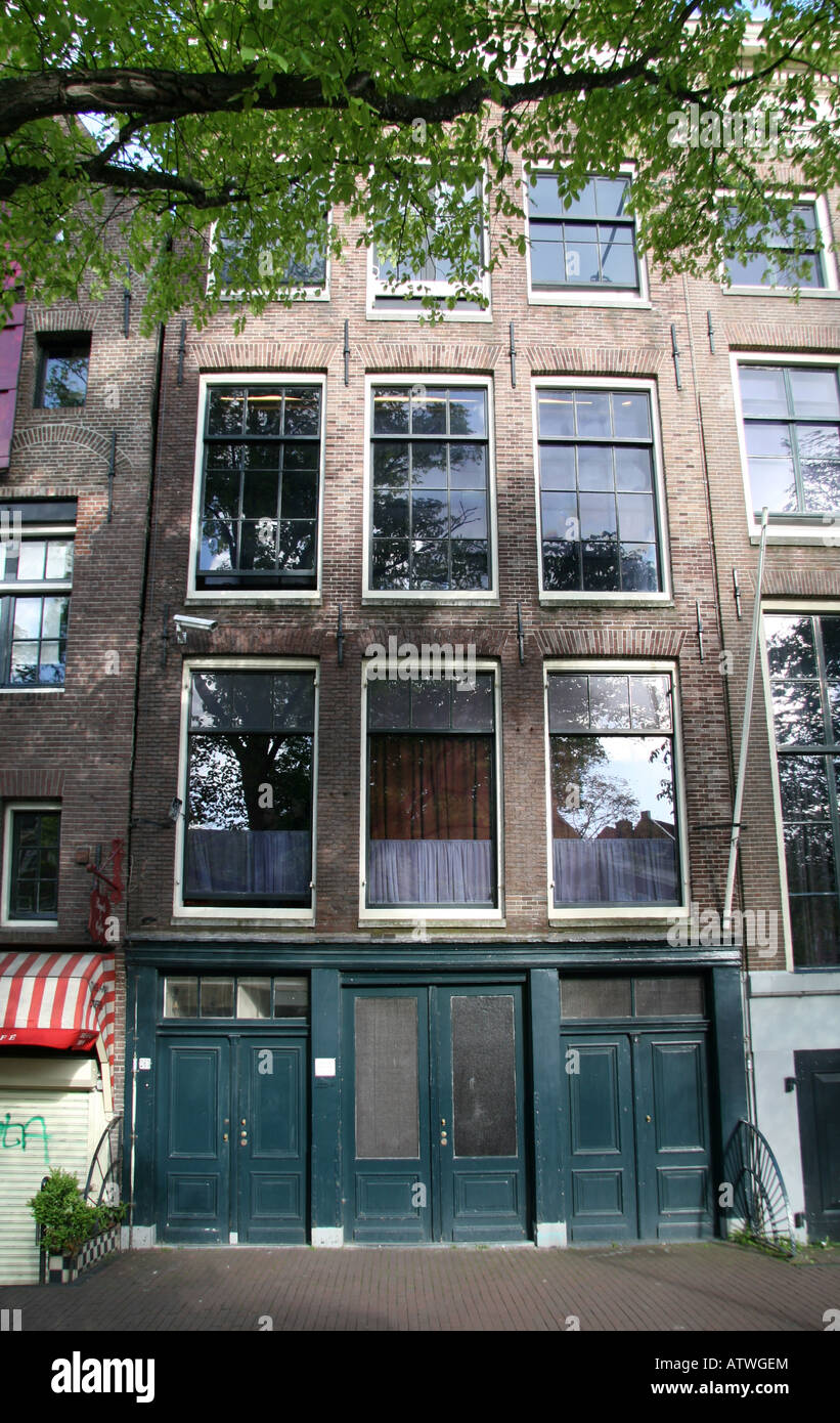 The Anne Frank House in Amsterdam, Netherlands. - Stock Image