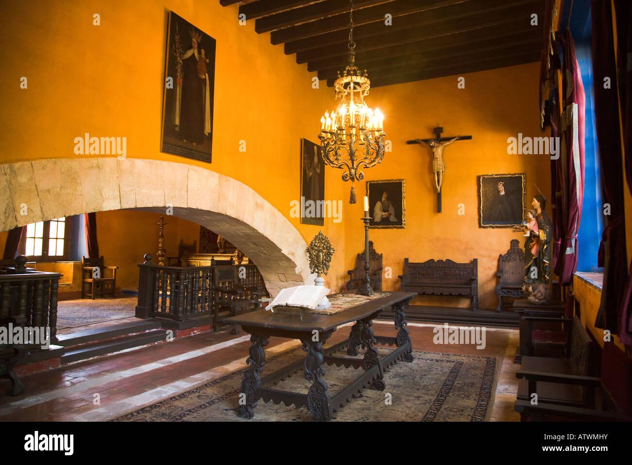Charming MEXICO Guanajuato Colonial Home Interior Wealthy Silver Baron Furniture And  Period Pieces Ex Hacienda De San