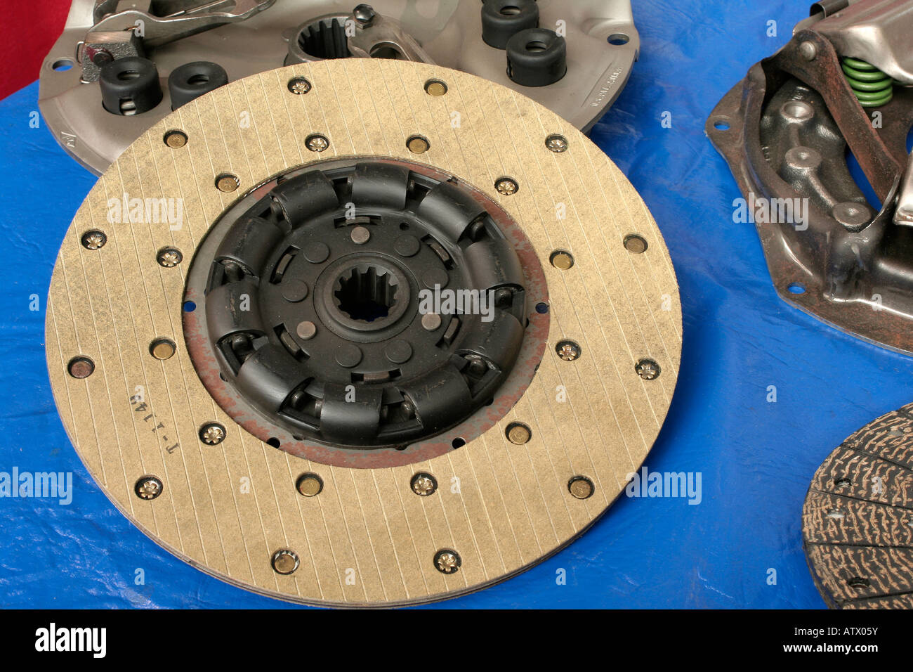 Clutch friction disc - Stock Image
