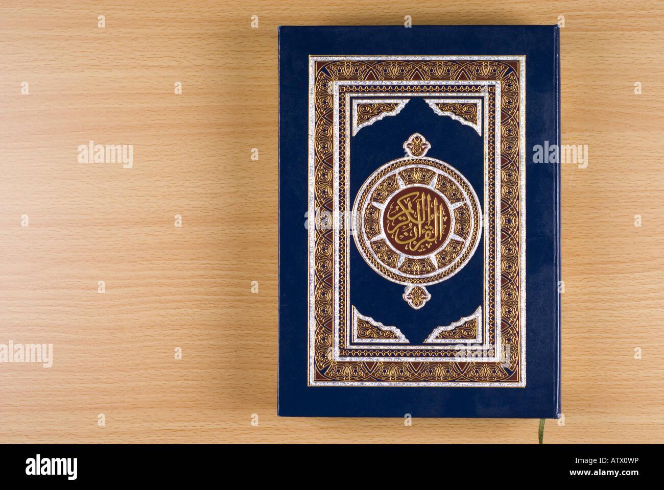 Quran Sacred book of Islam - Stock Image