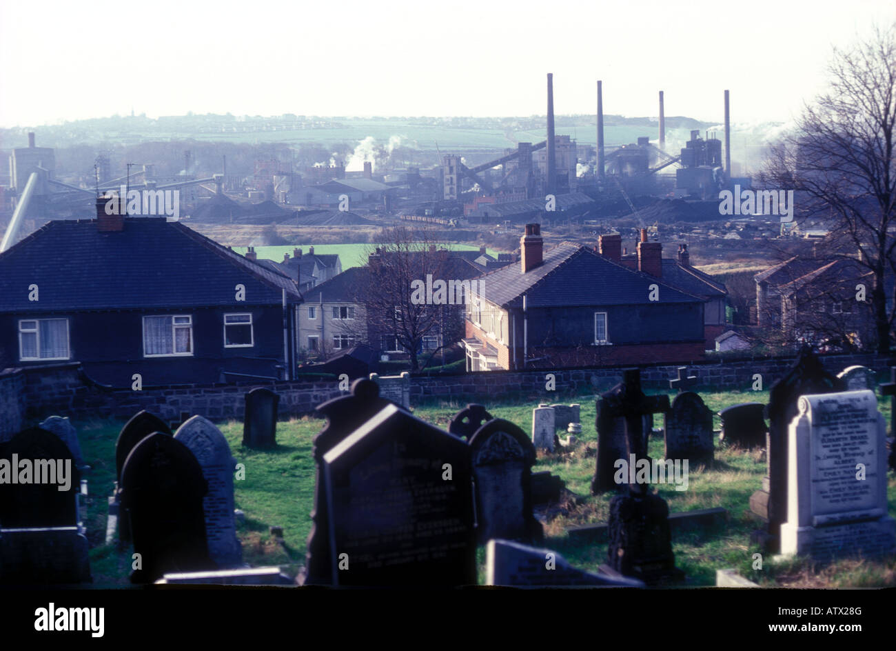 Collapse of industry in Sheffield. - Stock Image
