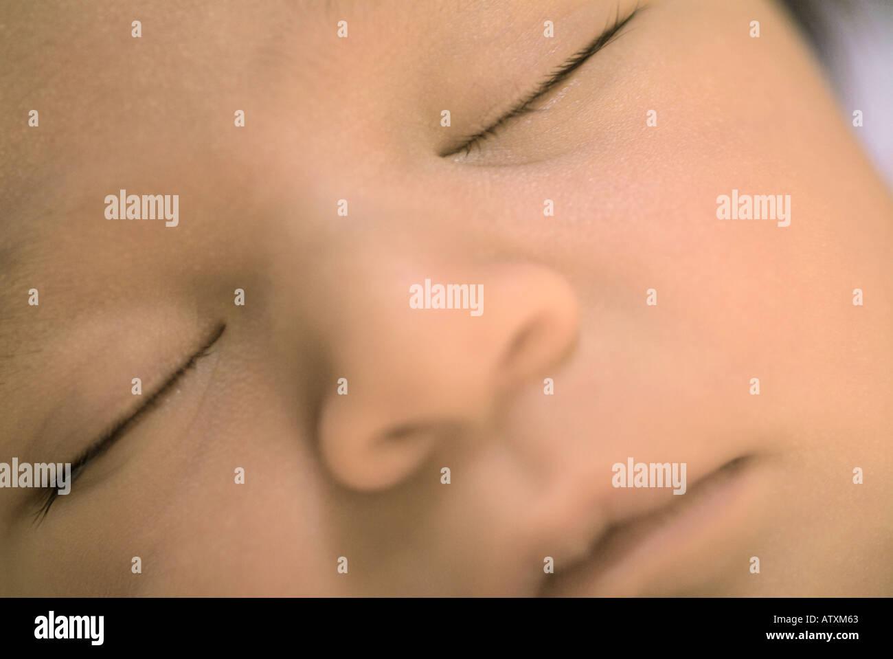 Baby Girl Newborn - Stock Image
