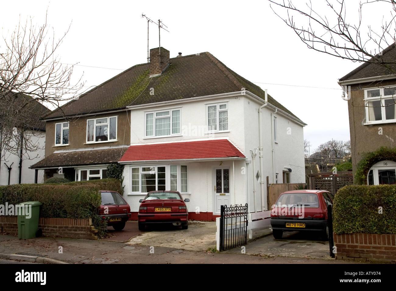 Improved pre war semi detached house Cheltenham UK - Stock Image