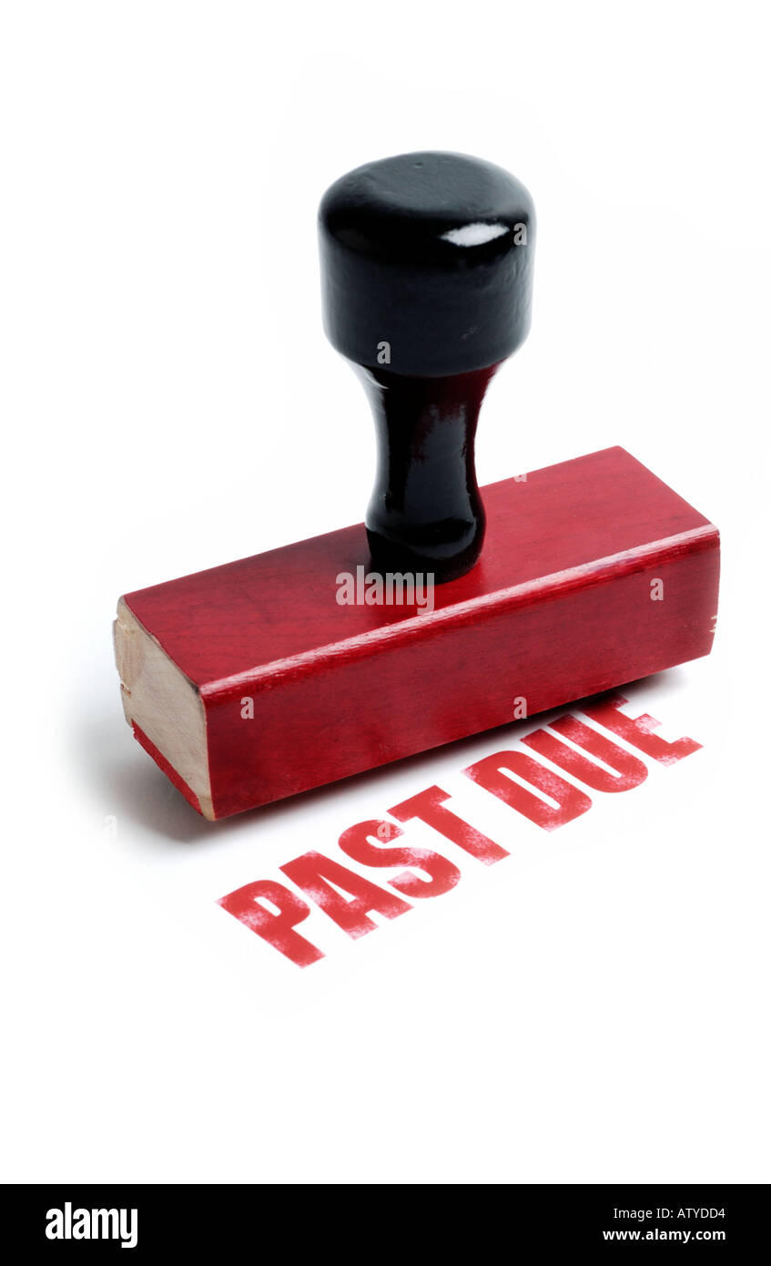 PAST DUE rubber stamp - Stock Image