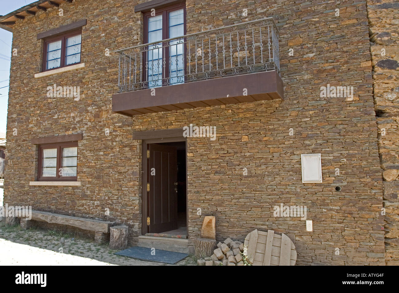 Dry Stacked Stone House - Stock Image