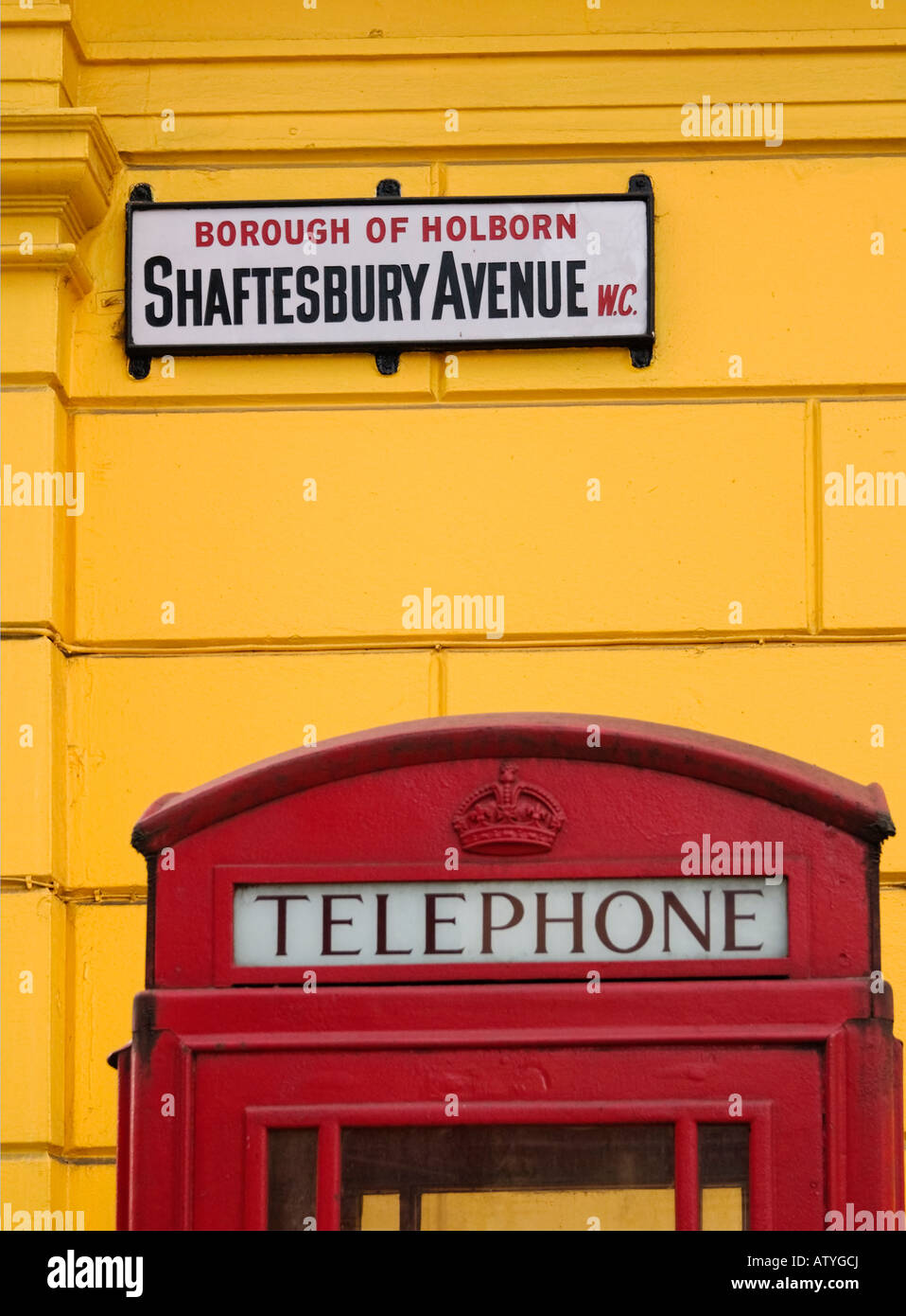 Shaftesbury Avenue London - Stock Image