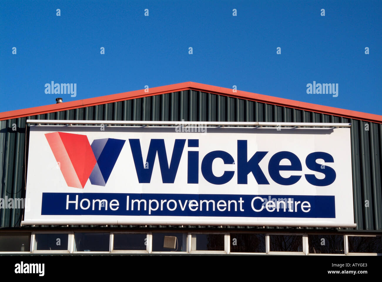 Wickes home stock photos wickes home stock images alamy wickes home improvement centre store logo red blue white exterior display sign diy do it yourself solutioingenieria Image collections