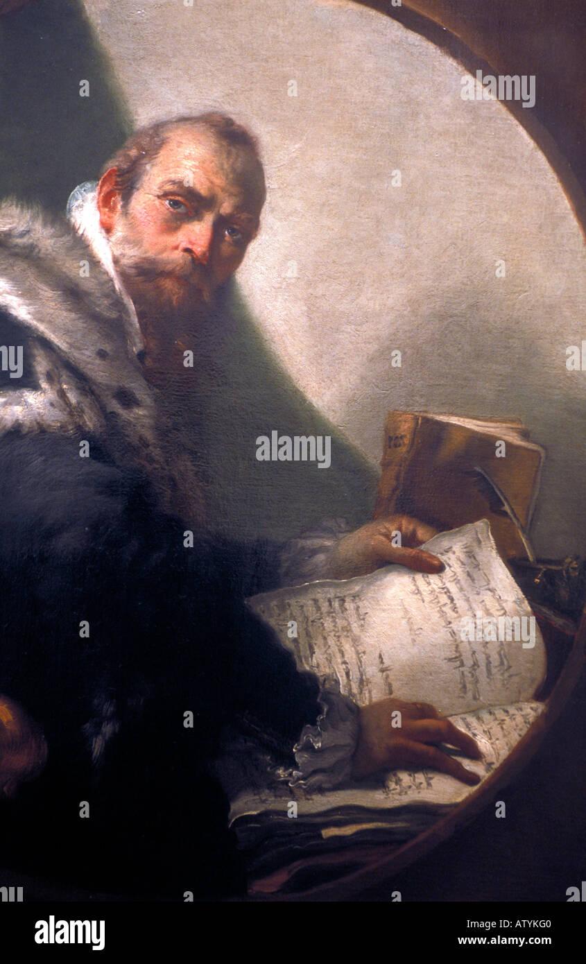 Tiepolo work of art Accademia de Concordi Rovigo Veneto Italy - Stock Image