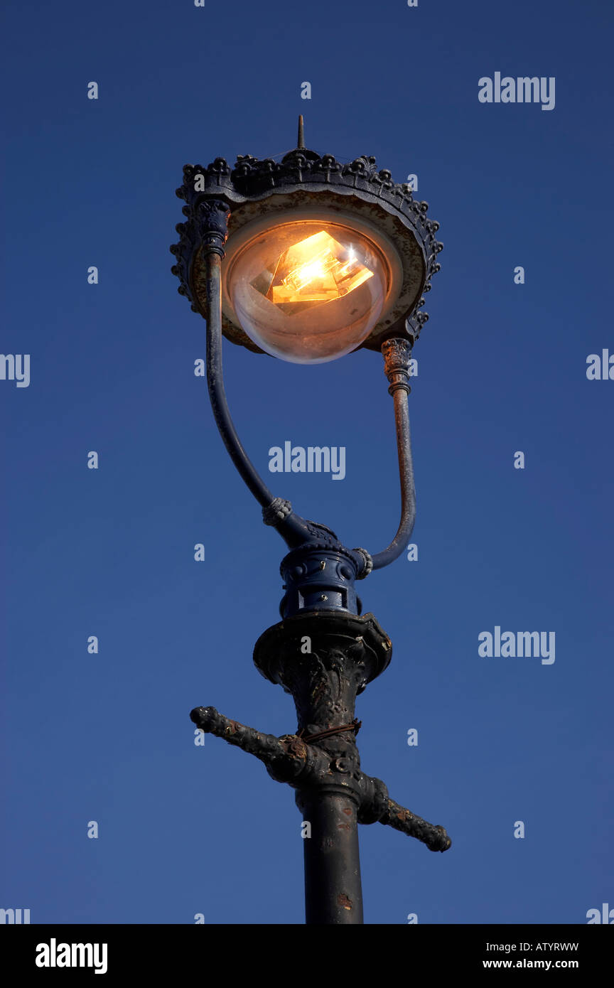 Antique streetlight - Stock Image