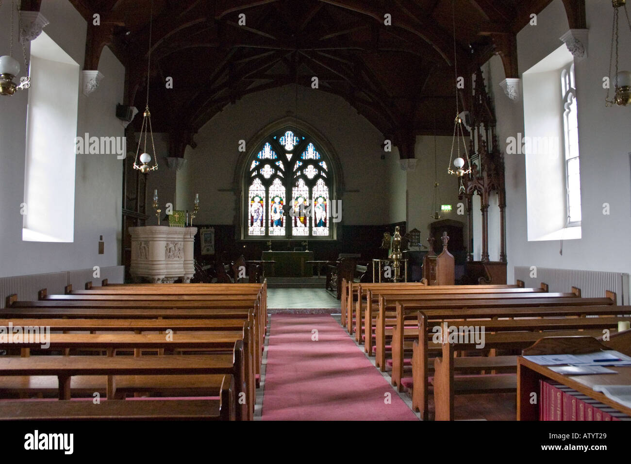 Rosscarbery Cathedral Interior, County Cork, Ireland - Stock Image