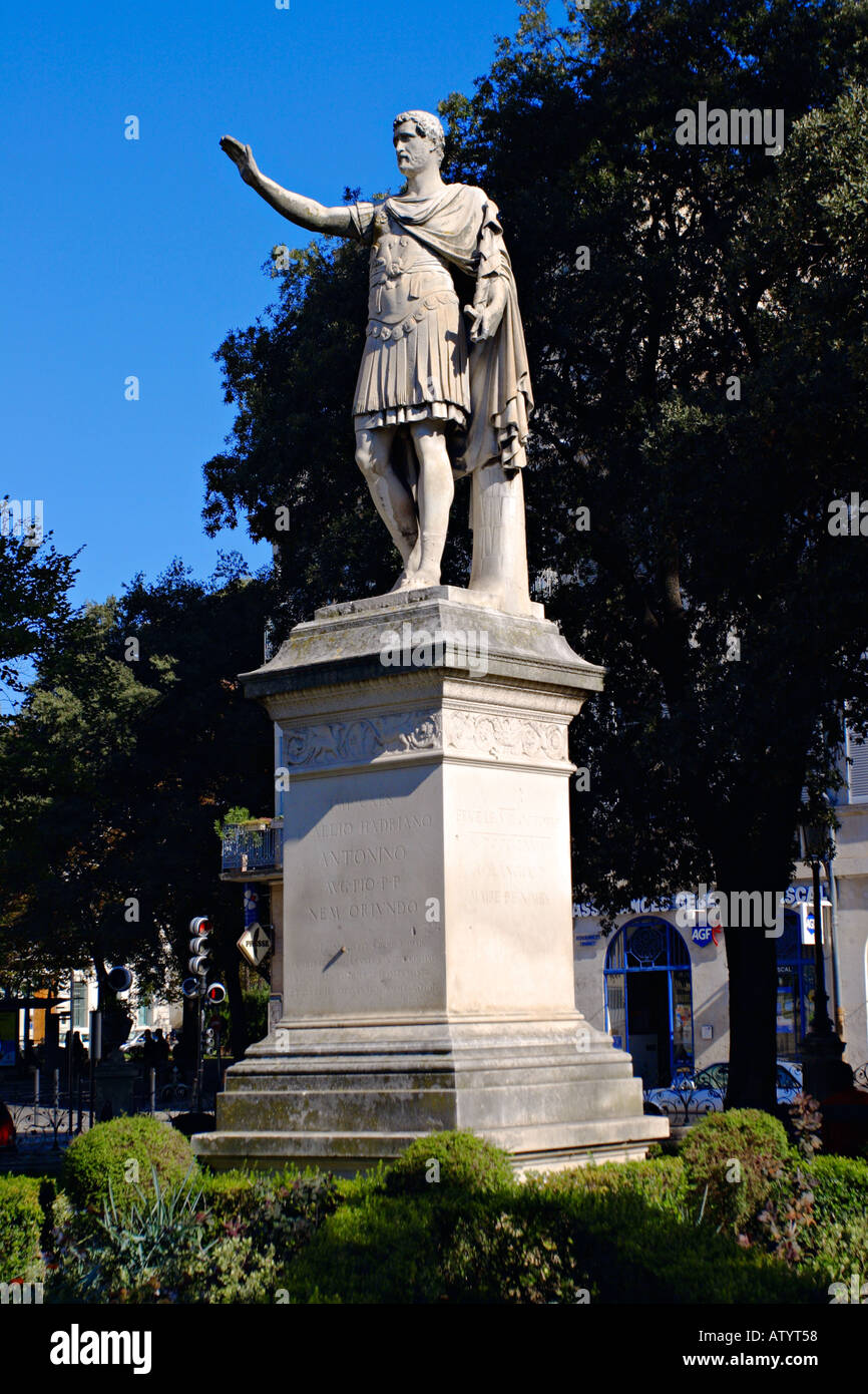 Statue of the roman emperor Antoine - Stock Image