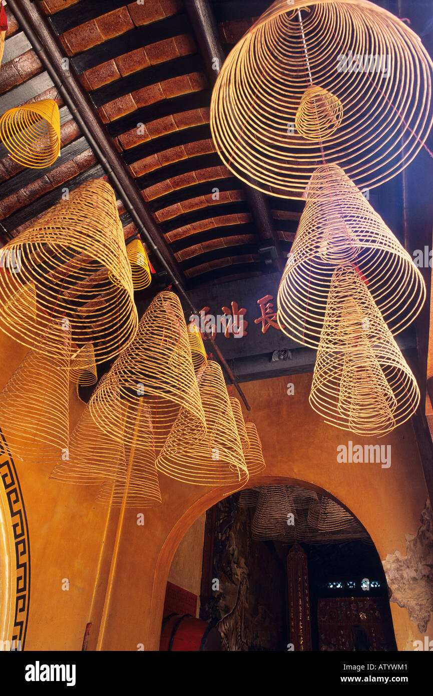 Cone shaped lamp shades hanging from ceiling in phung son tu pagoda cone shaped lamp shades hanging from ceiling in phung son tu pagoda cholon saigon ho chi minh city aloadofball Images