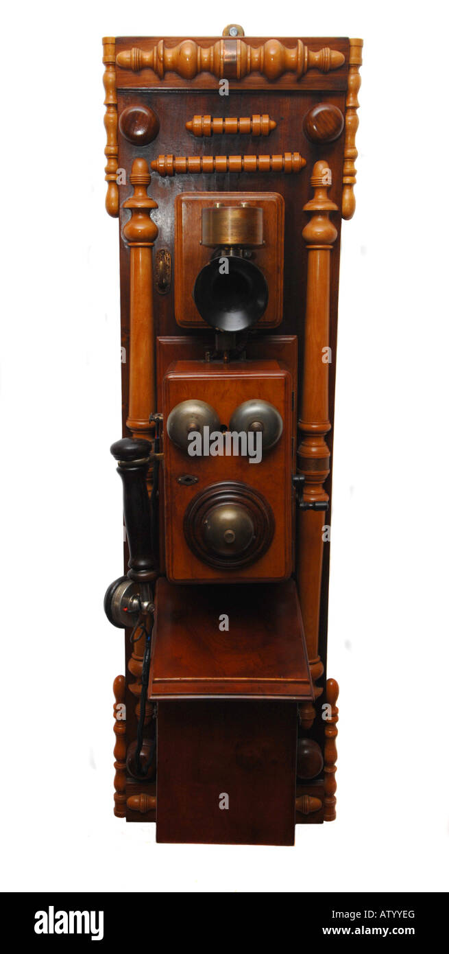 Antique telephone - Stock Image