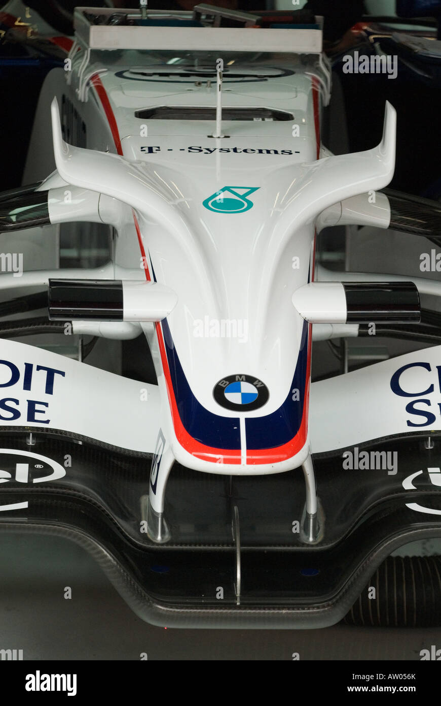 front wings on the BMW F1 08 during testing sessions in Feb 2008 - Stock Image