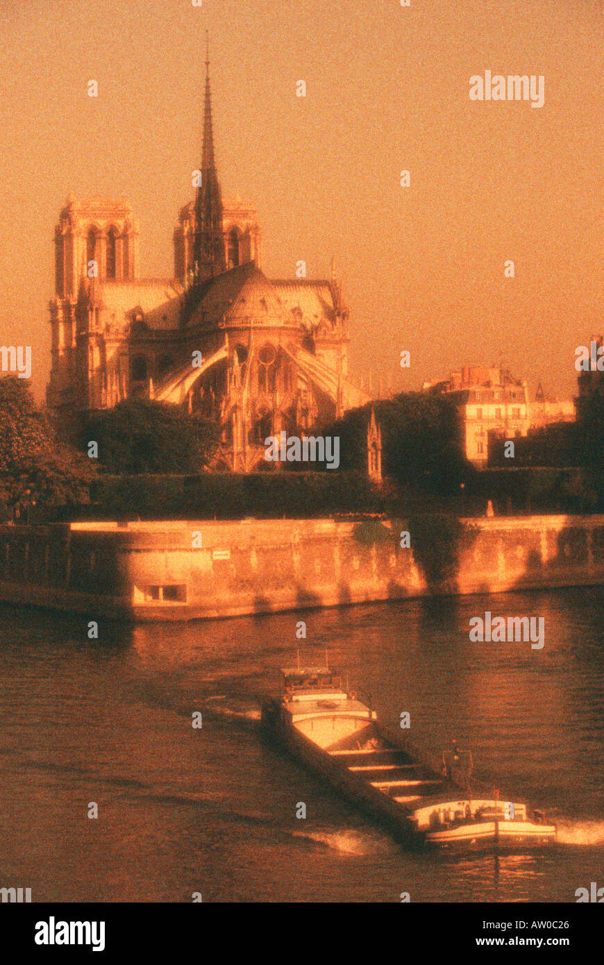 France Paris Notre Dame Cathedral Along The Riviere Seine