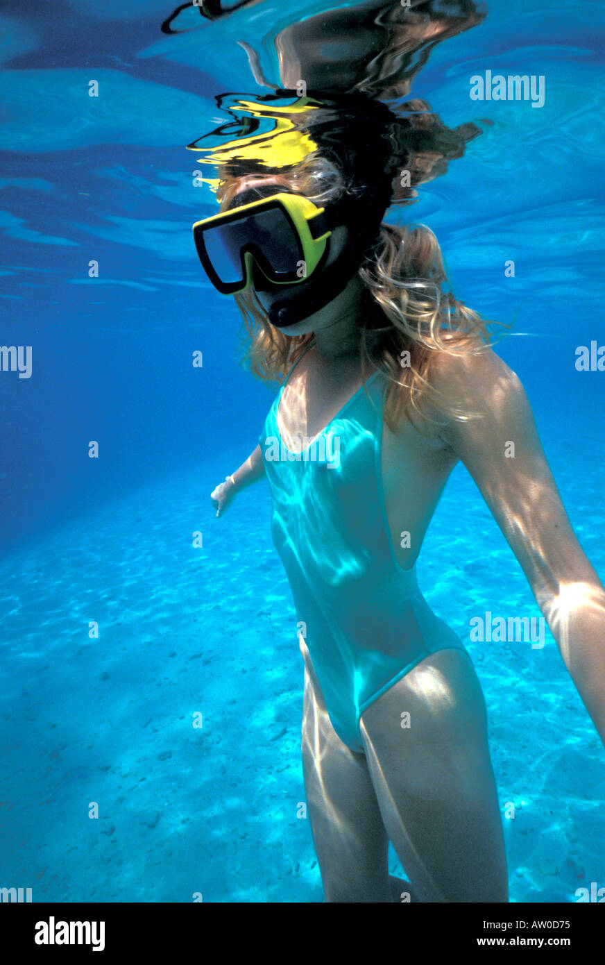 Snorkeling Bahamas Islands Stock Photos & Snorkeling