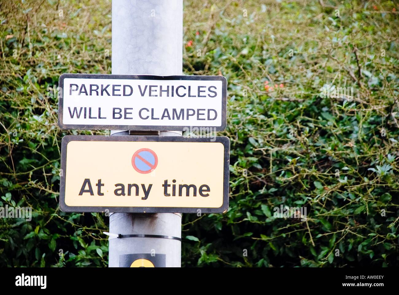 No Parking - Stock Image