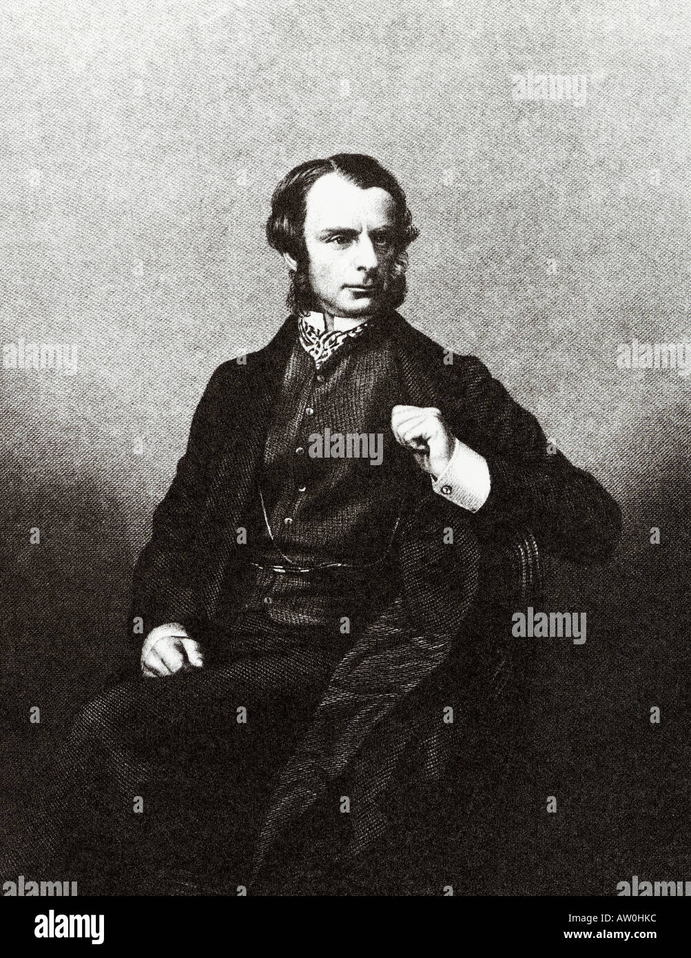 CHARLES KINGSLEY English writer 1819 to 1875 - Stock Image
