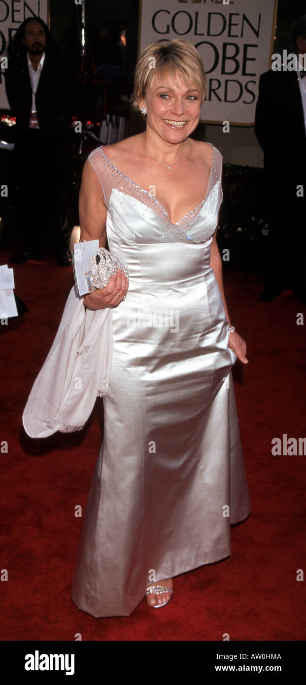 HELEN FIELDING UK author of Bridget Jones Diary at the 59th Golden Globe Awards in Los Angelels on  20 January  2002 - Stock Image