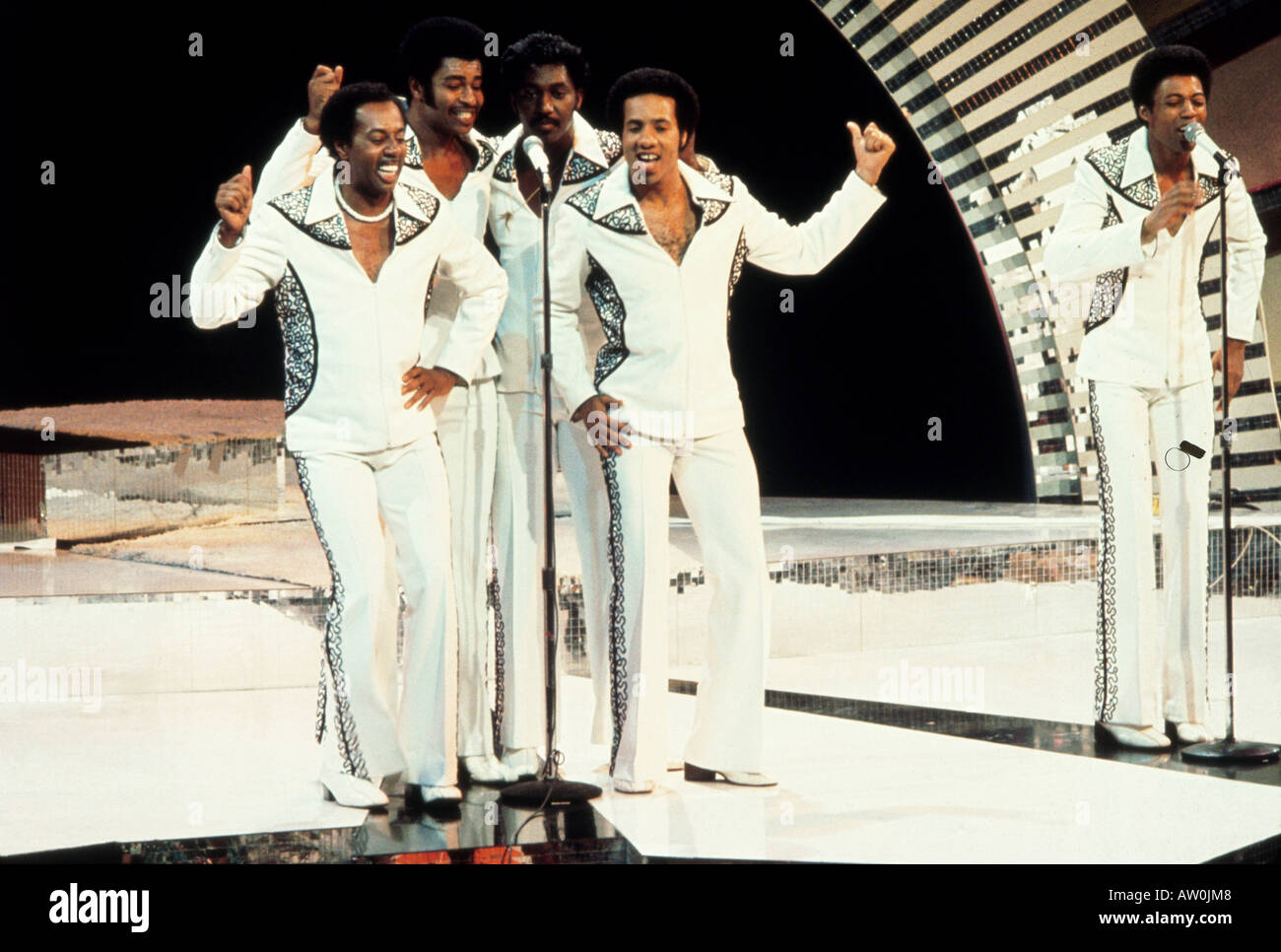 TEMPTATIONS US group in late 80s - Stock Image