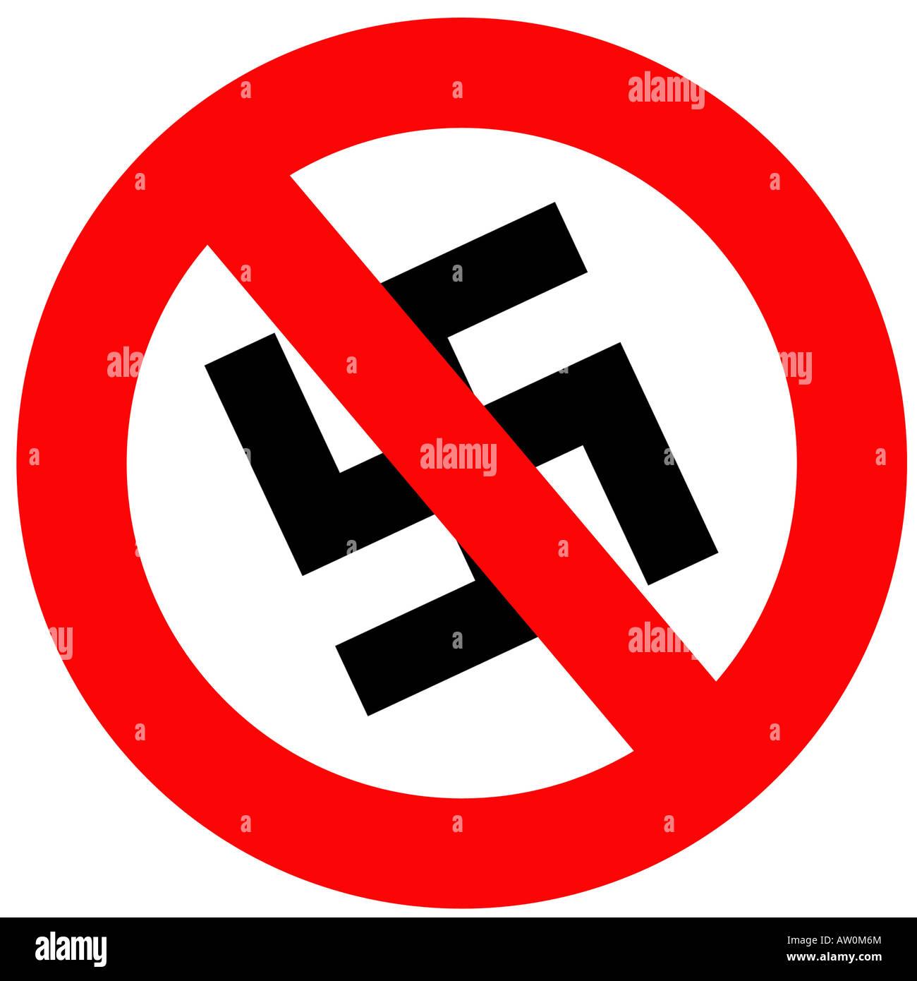 Anti nazi sign stock photo 16426891 alamy anti nazi sign biocorpaavc Gallery