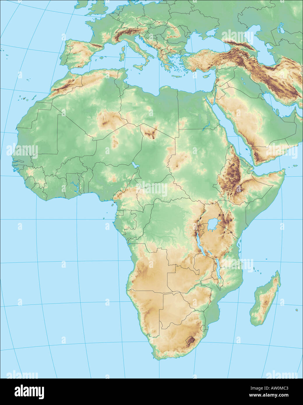 Africa Map Geography.Africa Region Color Map Maps Geographic Geography Stock Photos