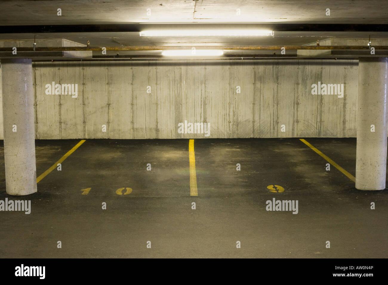 Indoor parking - Stock Image