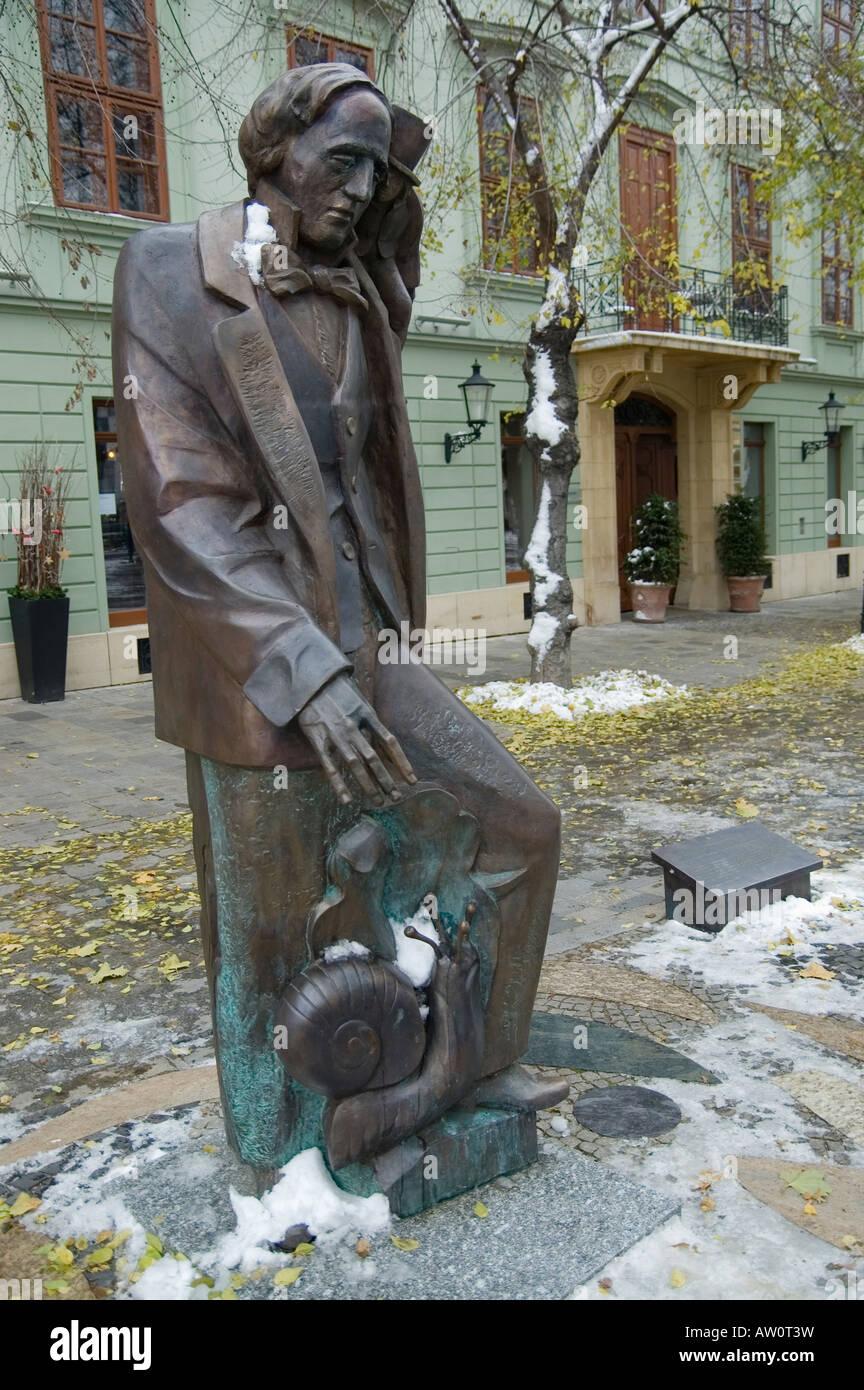 Lewis Carroll statue.  Bratislava, slovakia - Stock Image