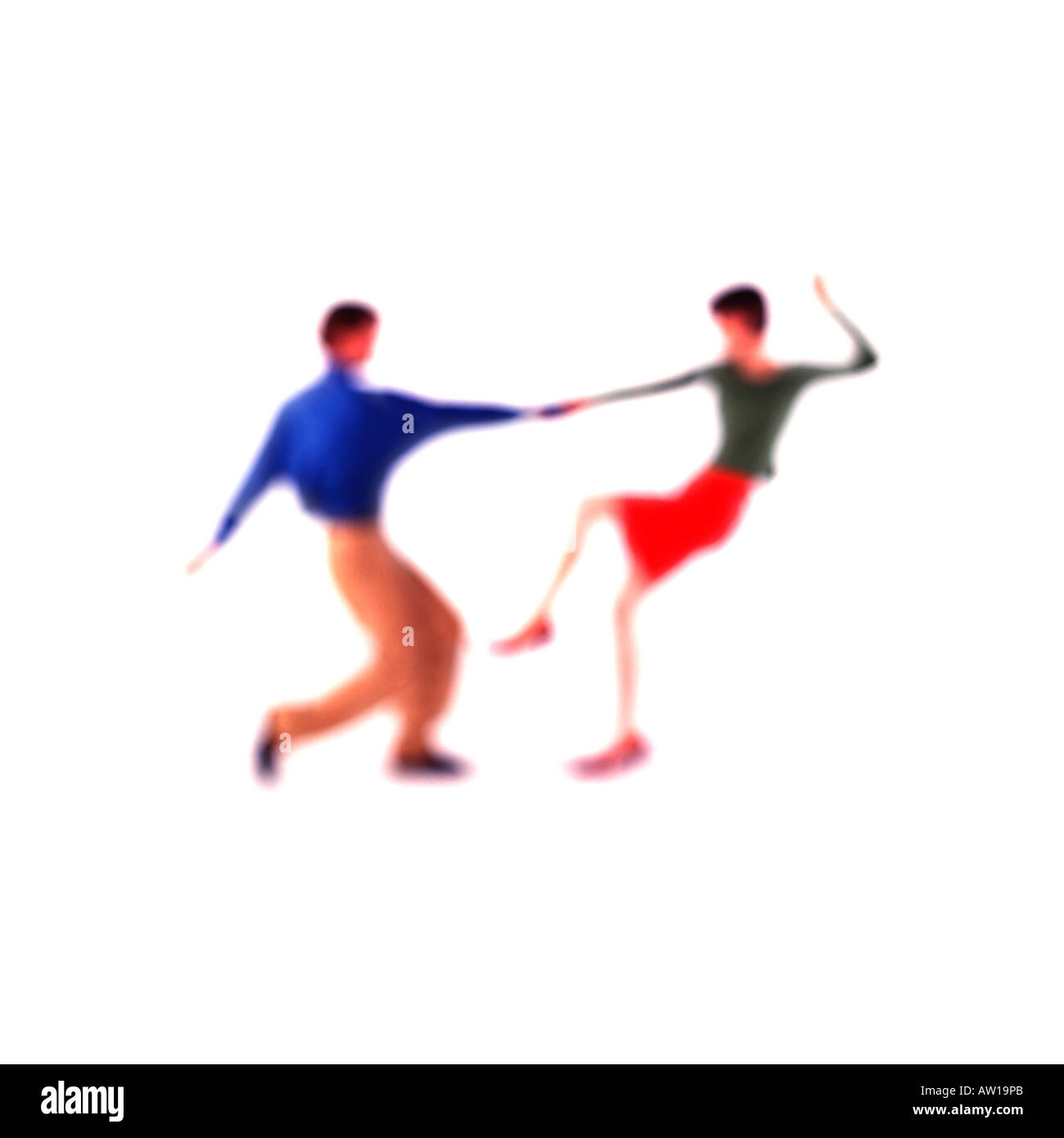 Man and Woman Dancing Soft Focus Stock Photo