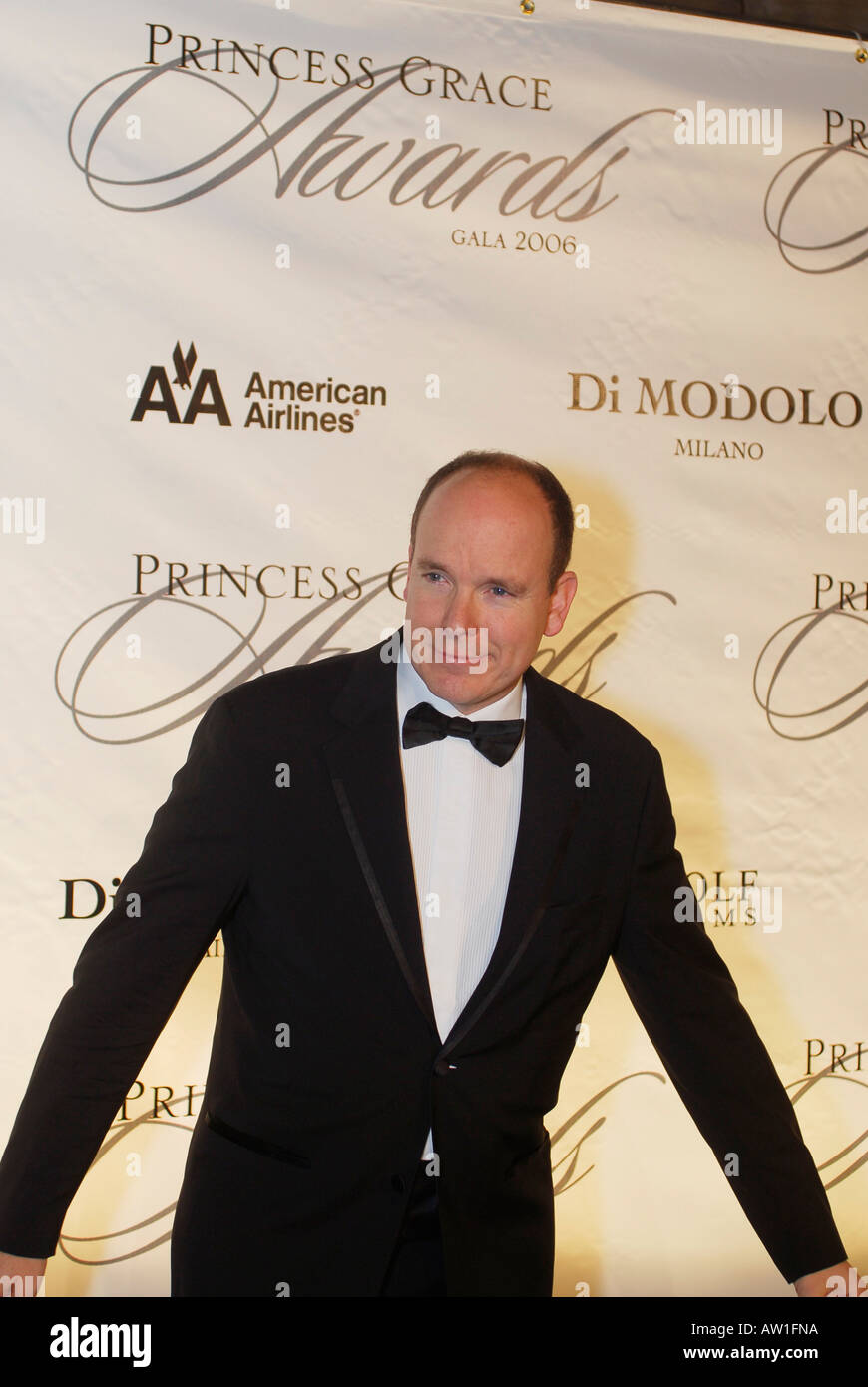 HSH PRINCE ALBERT II OF MONACO New York United States November 2 2006 HSH Prince Albert II of Monaco to present Twyla Tharp with the Prince Rainier III Award at the 2006 Princess Grace Awards Gala Surprise performance by Alexa Ray Joel daugter of Billy Joel and model Christie Brinkley Cipriani NYC USA - Stock Image
