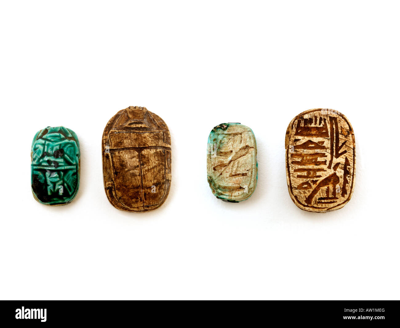 Egyptian Scarab from Sudan Amulet worn by Ancient Egyptian to represent God Khepri - Stock Image