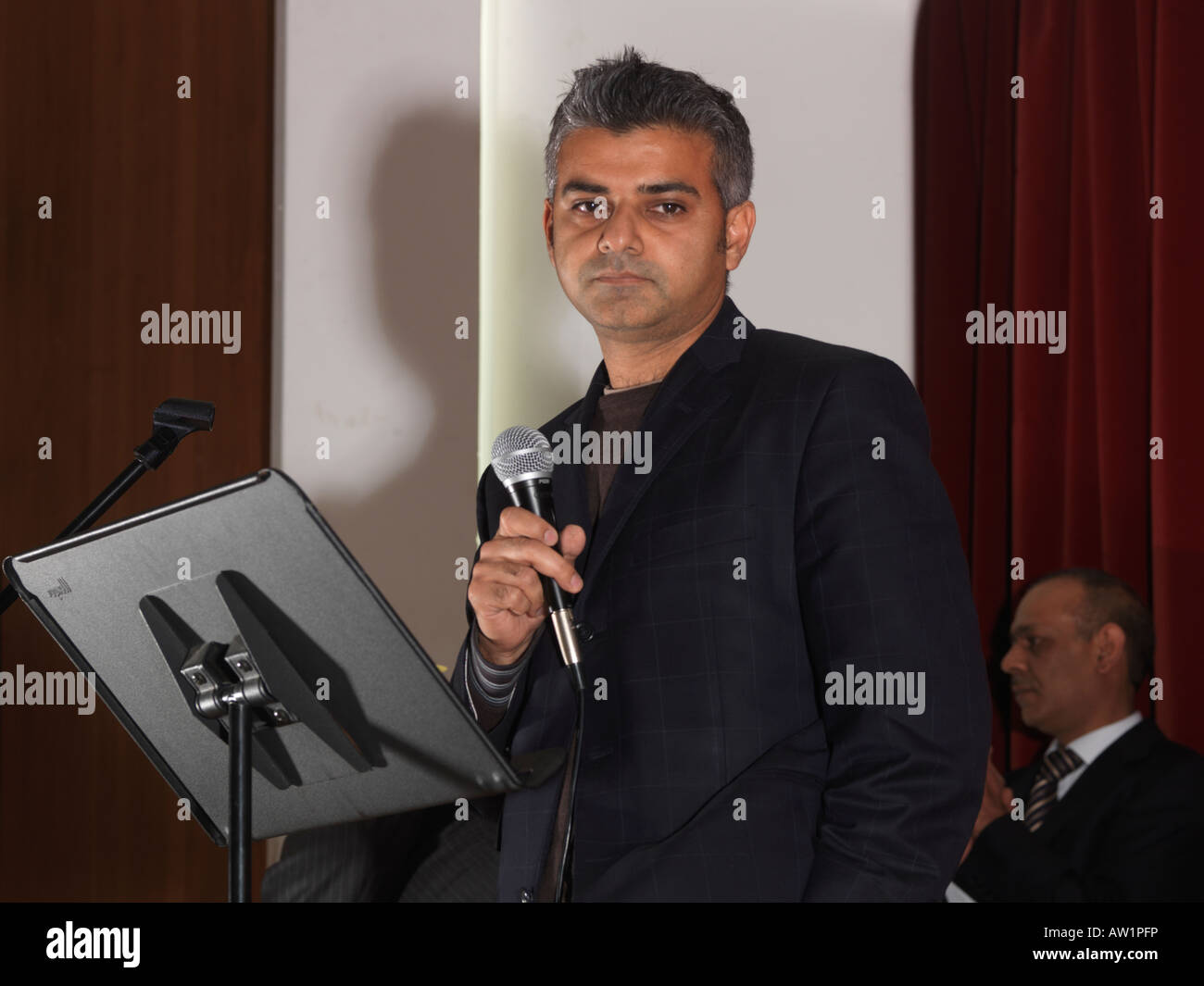 Diwali Wandswoth Town Hall London Sadiq Khan MP for Tooting - Stock Image