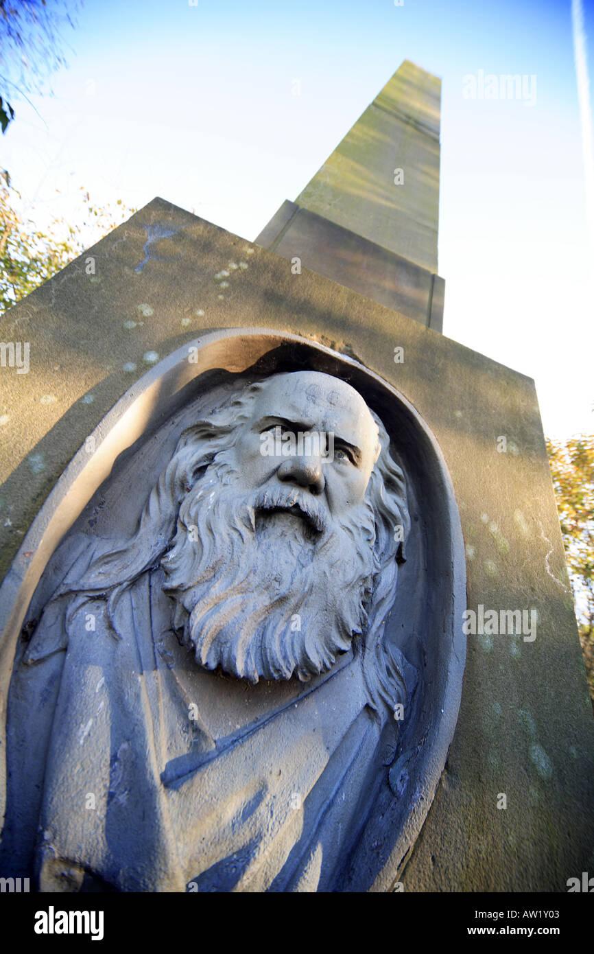 Memorial in Middleton Graveyard to Samuel Bamford political reformer who attended the Peterloo Massacre born in Stock Photo