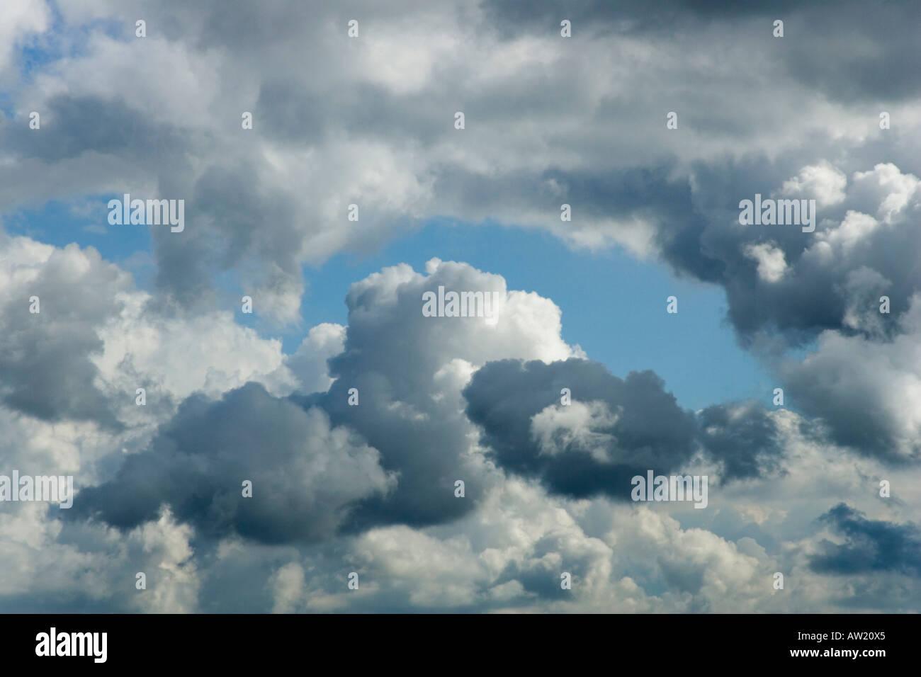 Minatory clouds - Stock Image