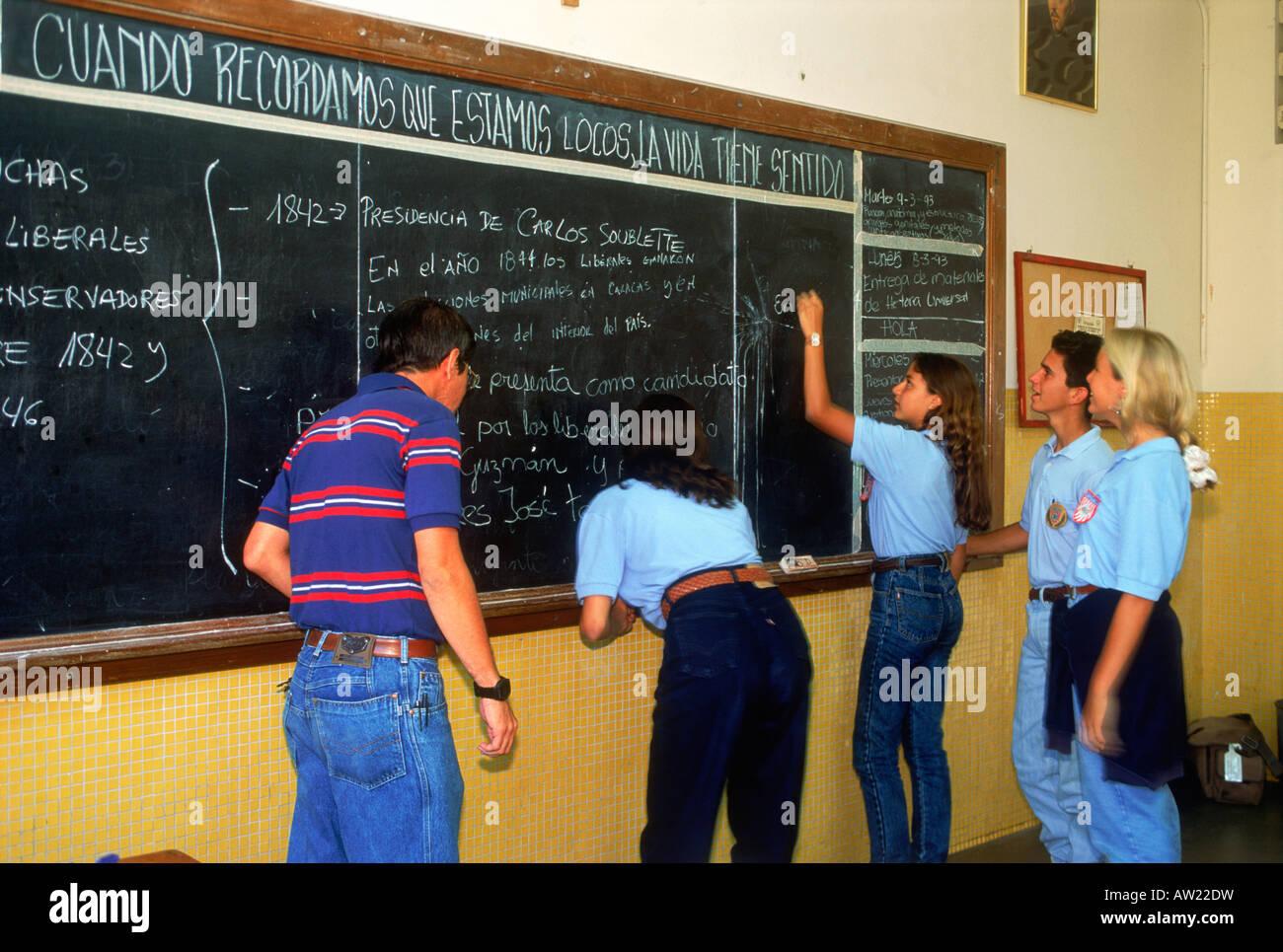 Students in 6th grade classroom in Caracus Venezuela Stock Photo ...