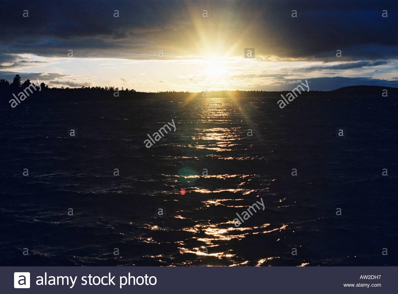 Lake Inari Lapland Finland - Stock Image