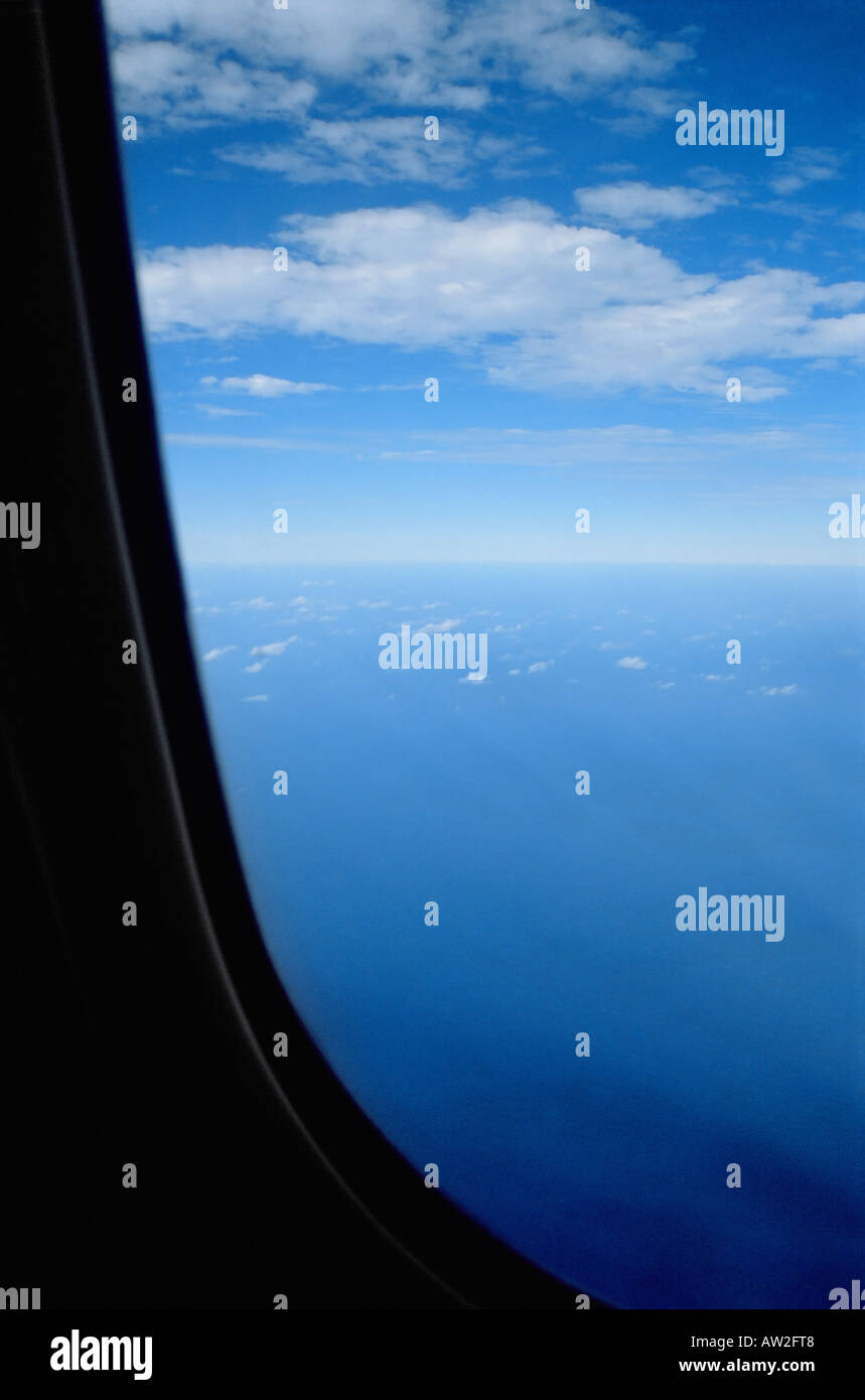 View from an aeroplane window - Stock Image
