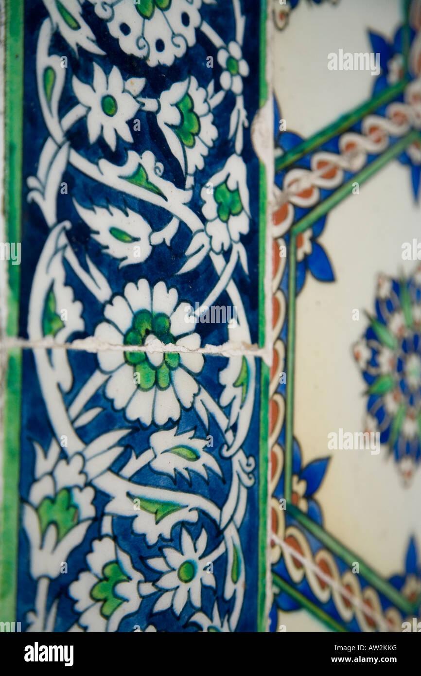 Tile Detail Topkapi Palace, Istanbul Stock Photo
