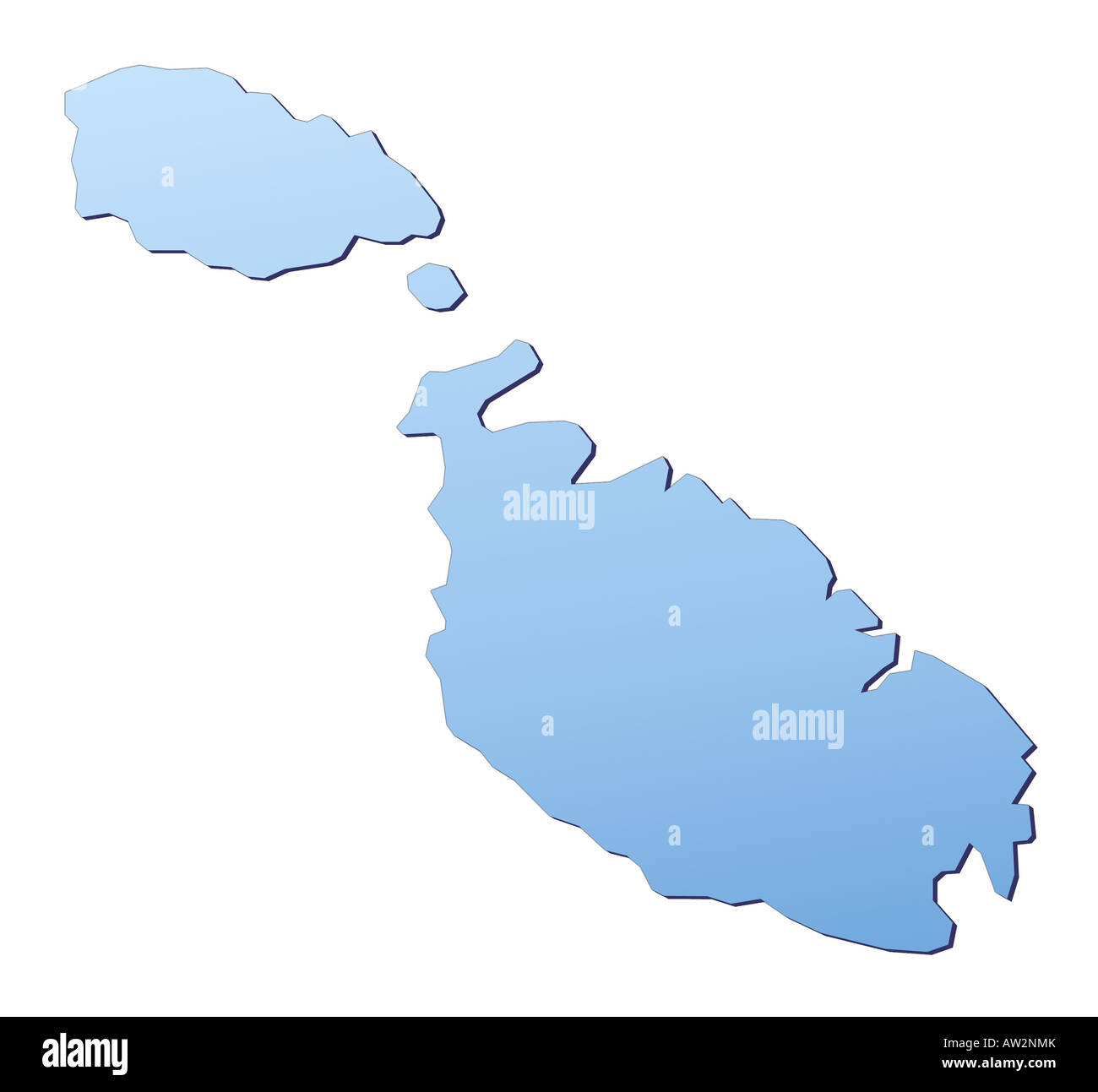 Malta map Stock Photo: 16446210 - Alamy