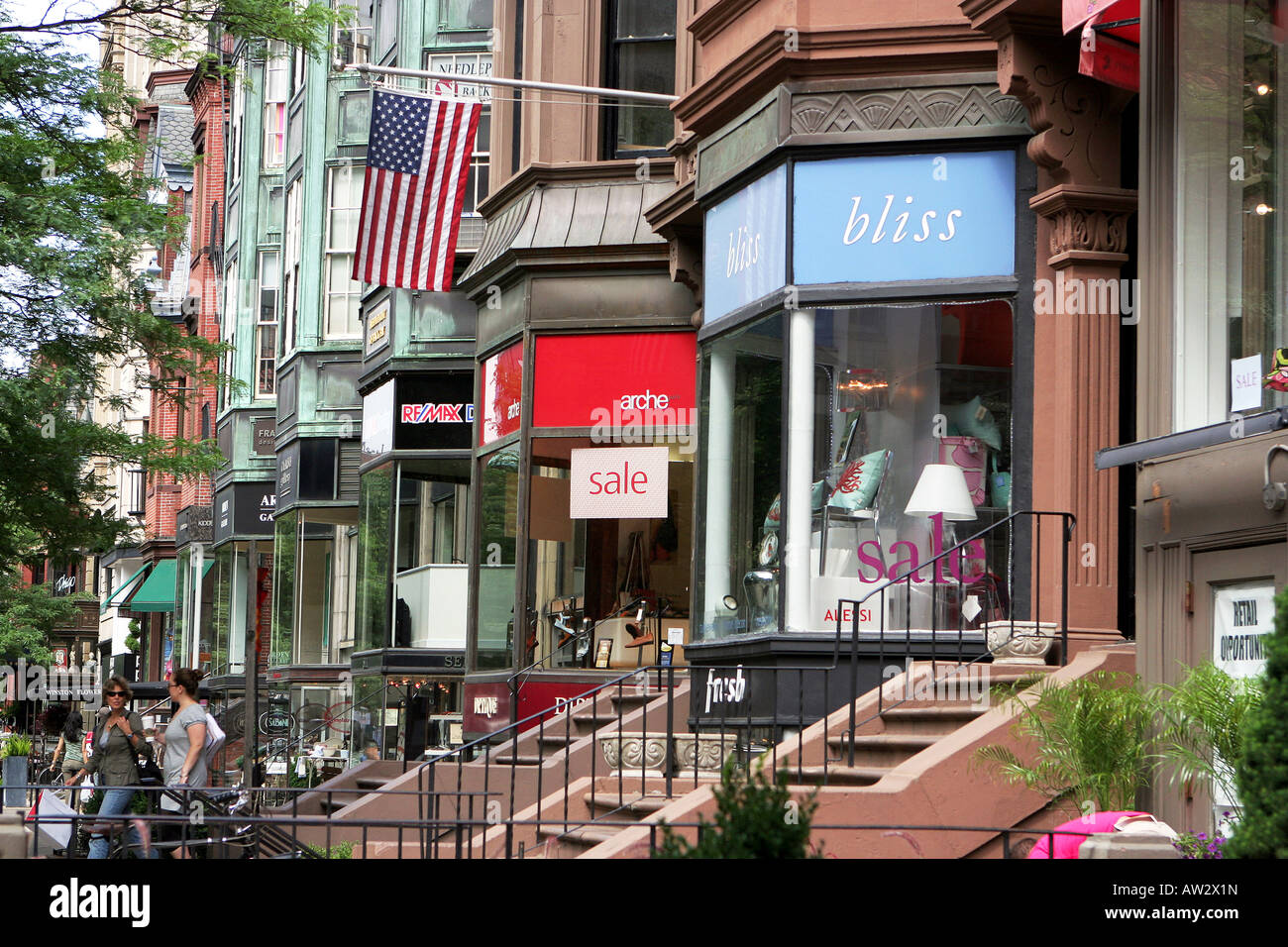 Newbury Street Back Bay Boston Cafe