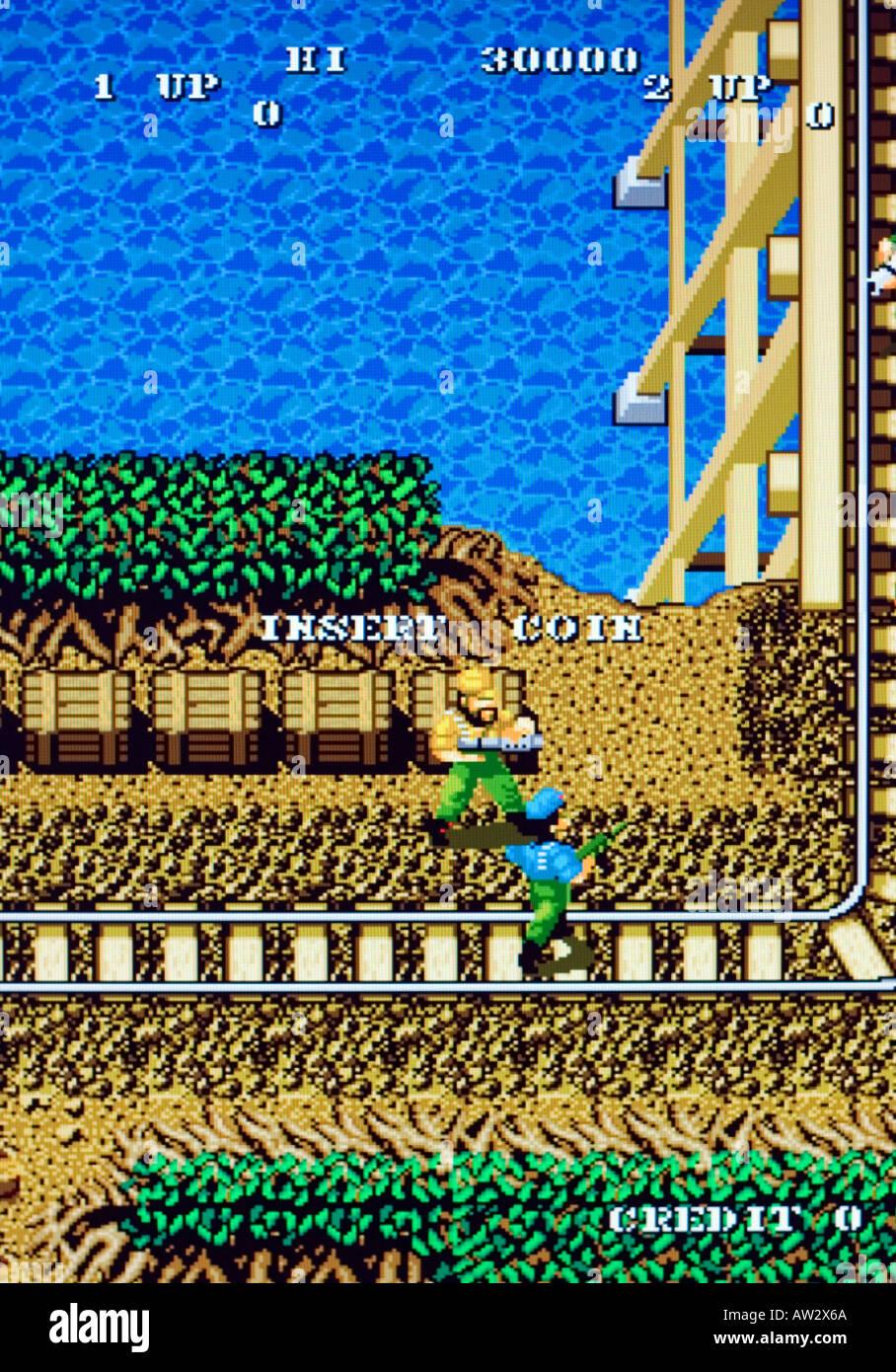 Guerrilla War Snk Corp 1987 Vintage Arcade Videogame Screen Shot Stock Photo Alamy