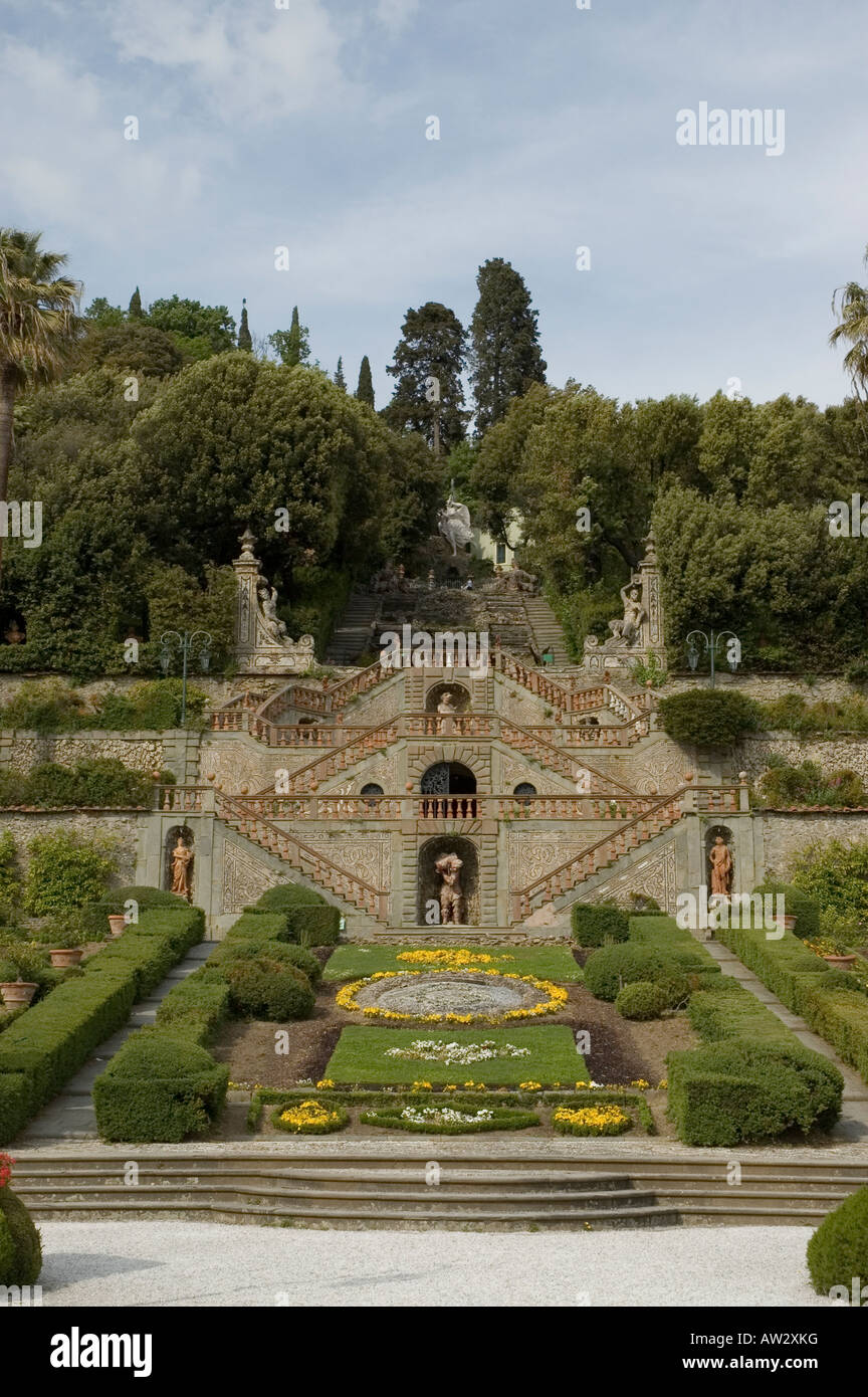Villa Garzoni, with its attached coeval monumental garden, - Stock Image