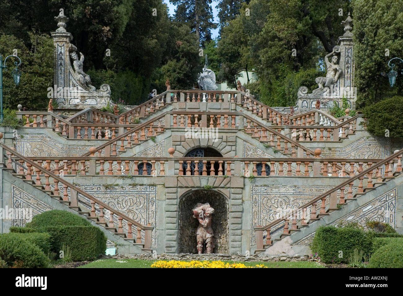 Villa Garzoni, with its attached coeval monumental garden - Stock Image