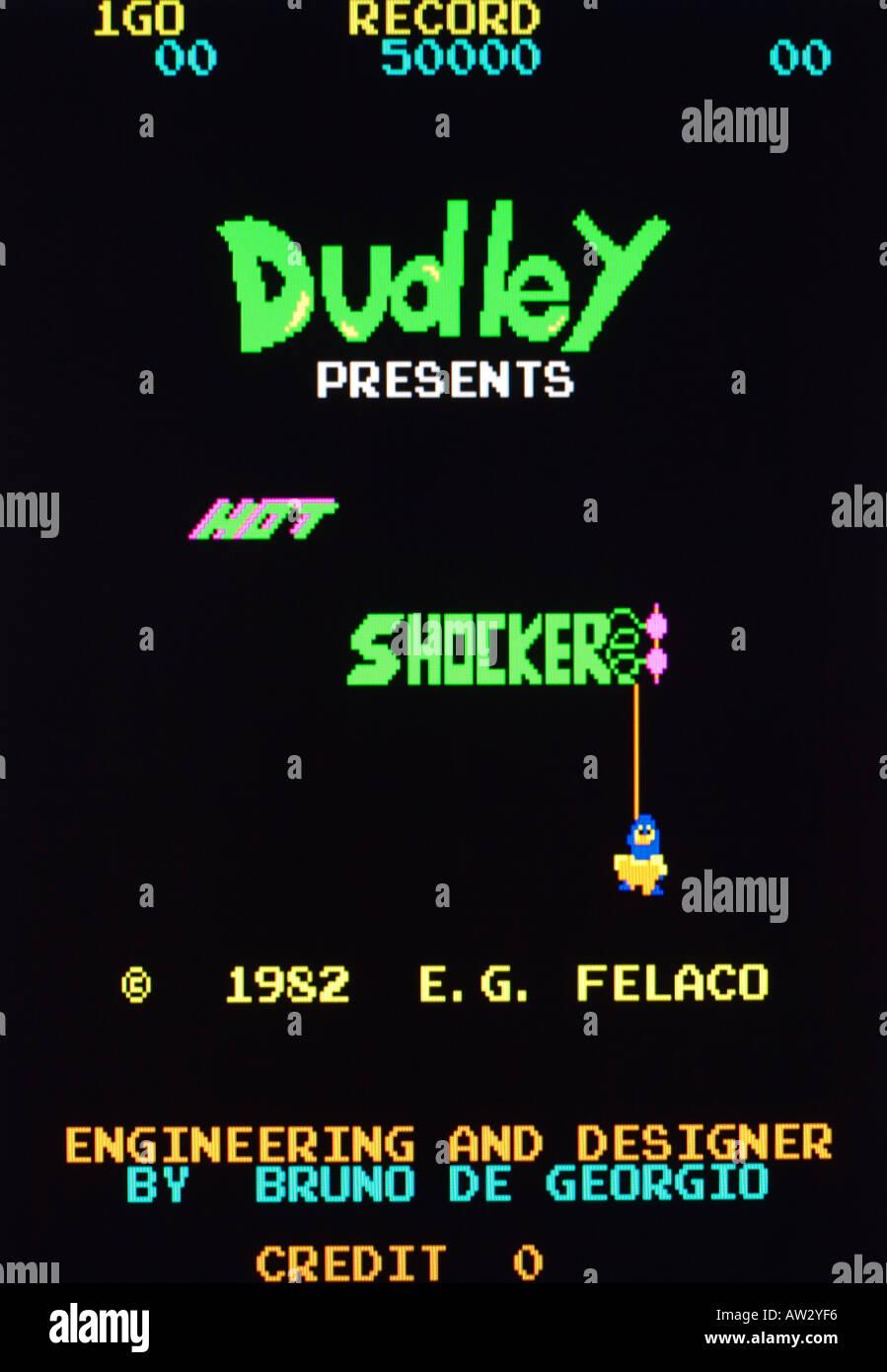 Hot Shocker E G Felaco 1982 Vintage arcade videogame screen shot - EDITORIAL USE ONLY - Stock Image