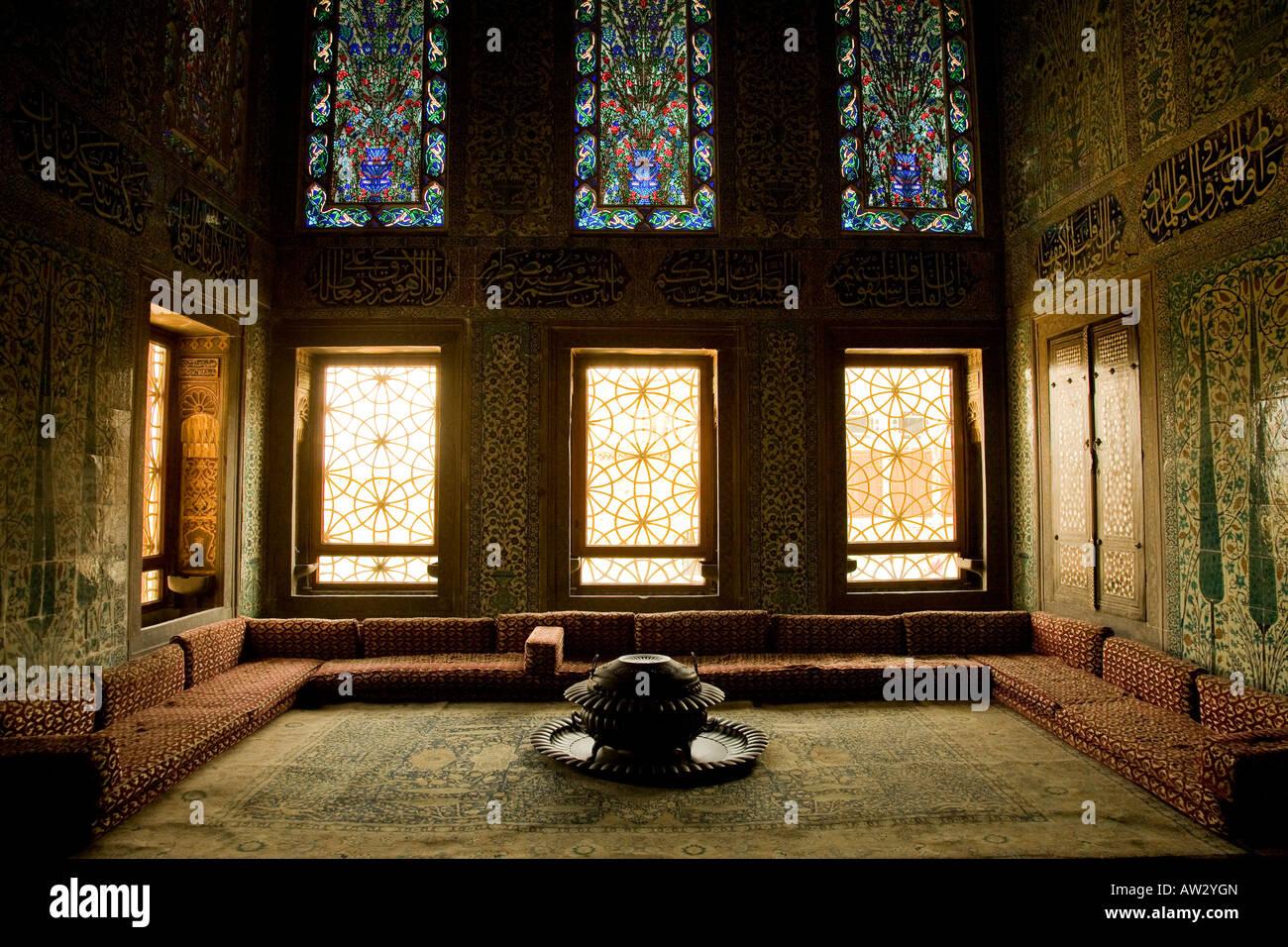 Privy Chamber, Twin Kiosk, Topkapi Palace, Istanbul Stock Photo