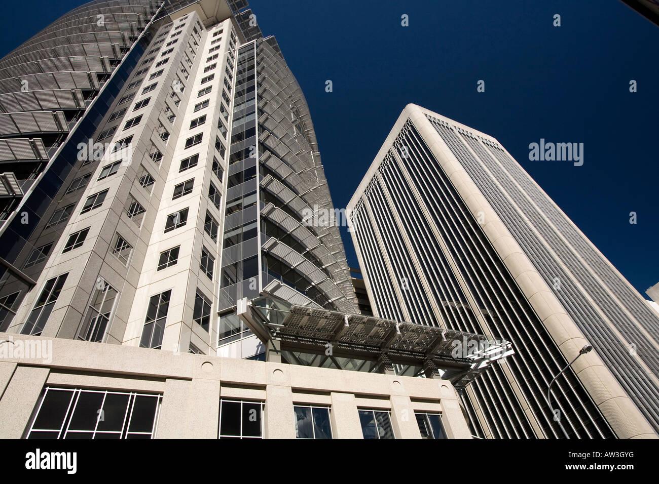 residential apartment high rise building on edward street,brisbane,australia - Stock Image