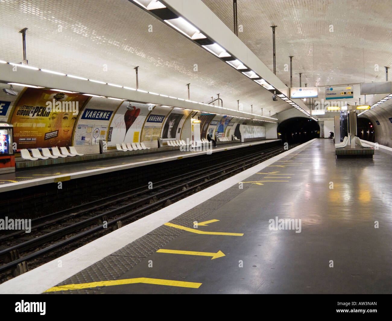 Paris Metro at Varenne, Paris, France, Europe - Stock Image