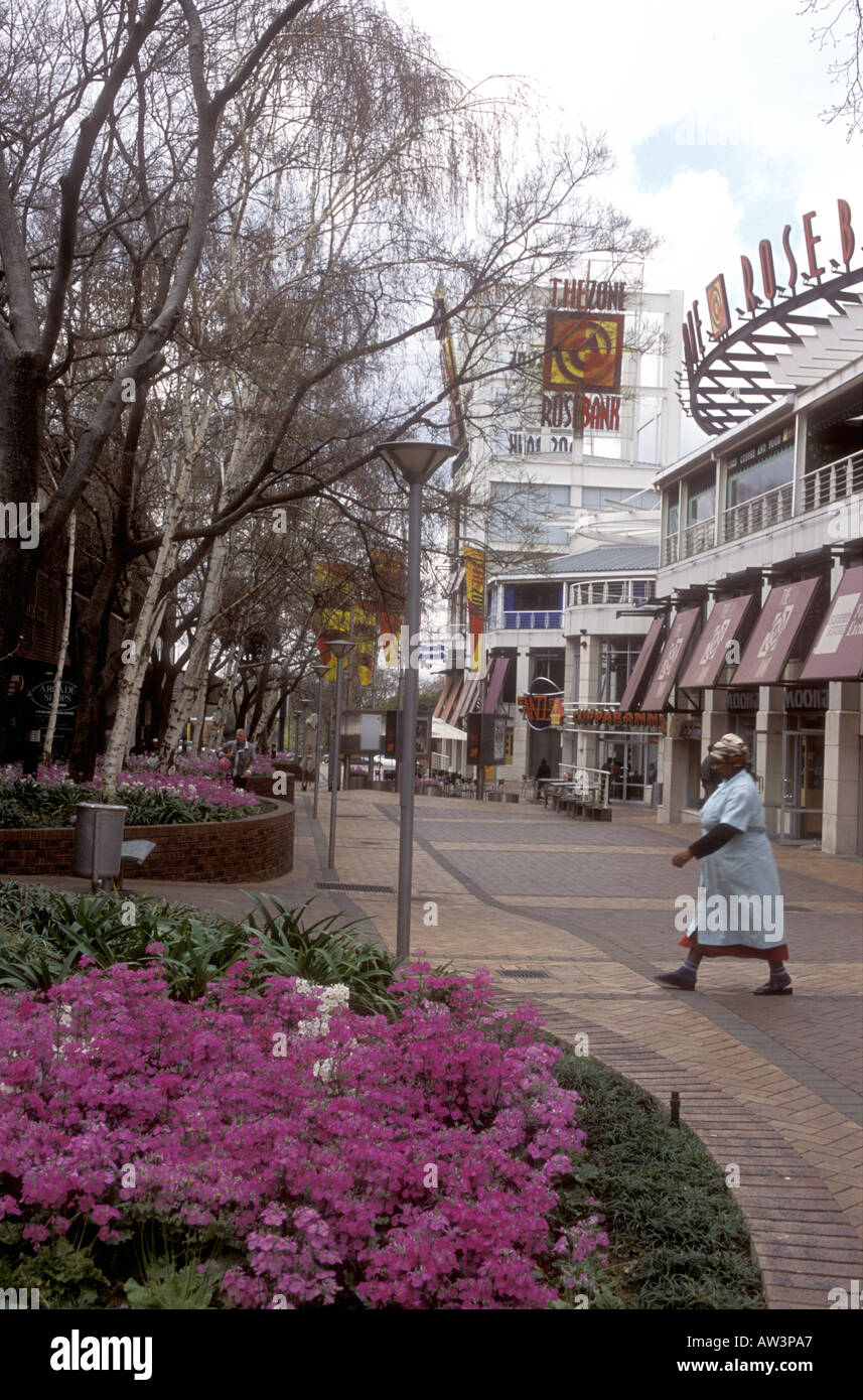 Rosebank shopping mall Johannesburg South Africa Stock Photo