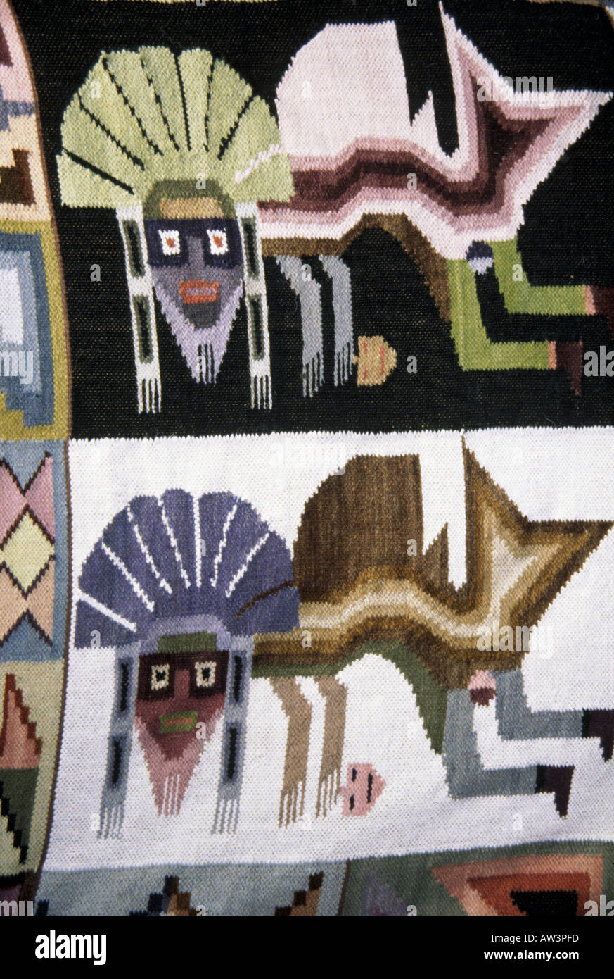 PERU - textile designs - Stock Image