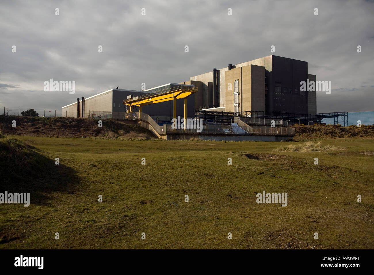 Sizewell A Nuclear Power Station, now decommissioned, on the Suffolk coast of Britain - Stock Image
